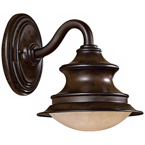 "Vanira Place 11"" High Outdoor Wall Light in Windsor Rust"