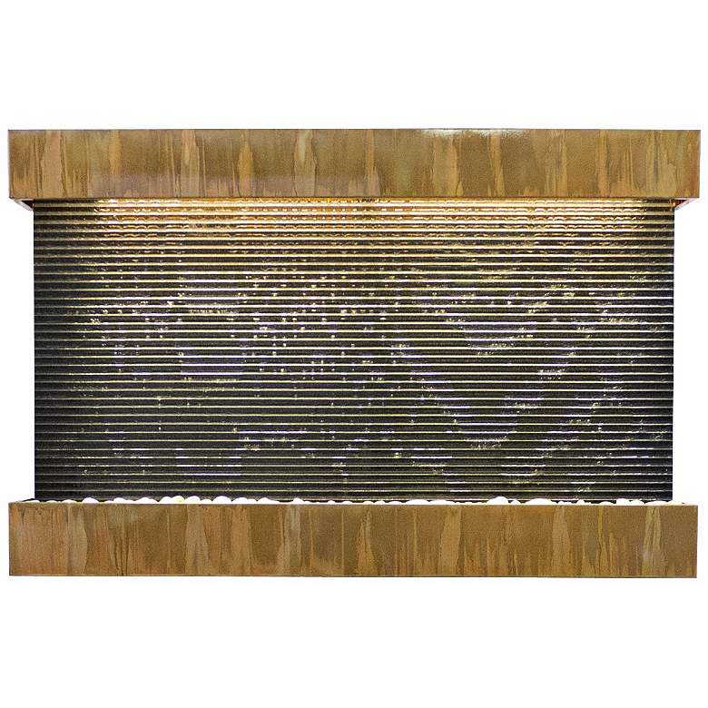 """Quarry Granite and Copper 51"""" Wide Indoor Wall Fountain"""