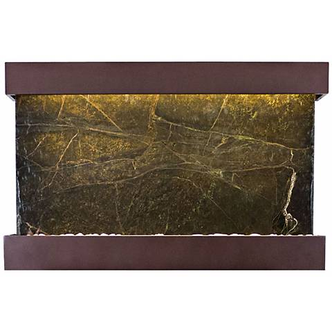 """Quarry Green Marble Copper Vein 51"""" Wide Wall Fountain"""