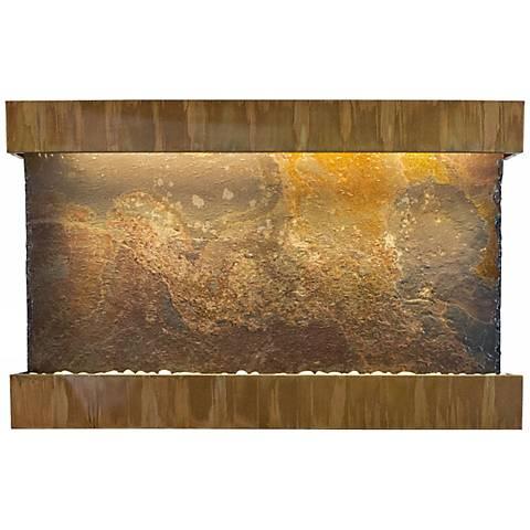 "Classic Quarry Raja Slate 51"" Wide Copper Wall Fountain"