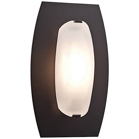 "Nido 10"" Wide Oil Rubbed Bronze Frosted Glass Ceiling Light"