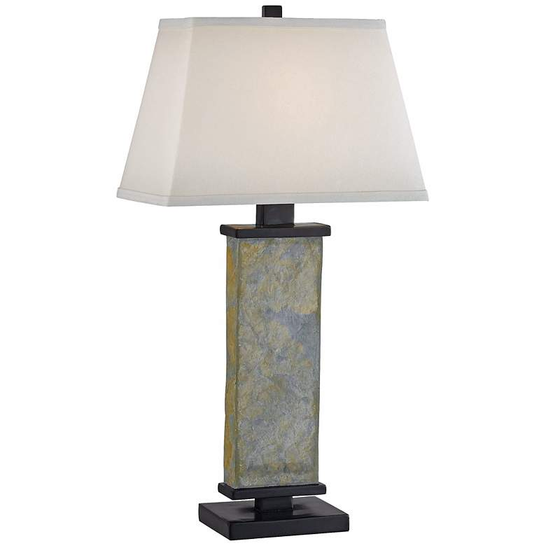 Kenroy Home Hanover Natural Slate Table Lamp