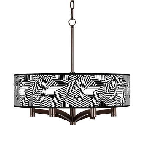 Labyrinth Ava 6-Light Bronze Pendant Chandelier
