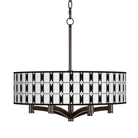 Tribal Weave Ava 6-Light Bronze Pendant Chandelier