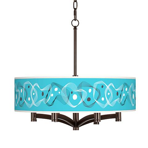 Spirocraft Ava 6-Light Bronze Pendant Chandelier