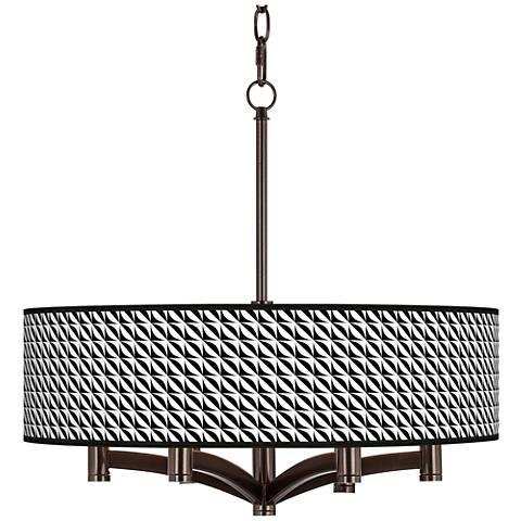 Waves Ava 6-Light Bronze Pendant Chandelier