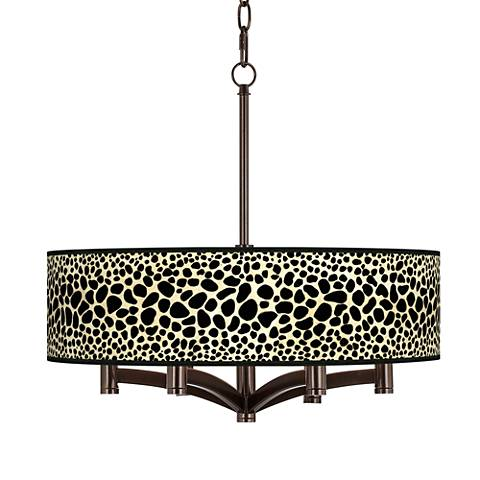Leopard Ava 6-Light Bronze Pendant Chandelier