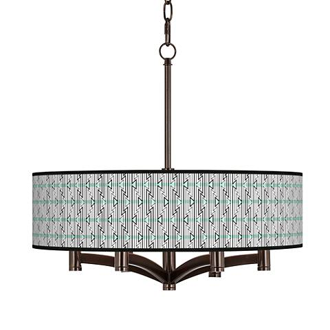 Indigenous Ava 6-Light Bronze Pendant Chandelier