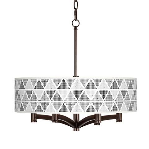Pointillism Ava 6-Light Bronze Pendant Chandelier