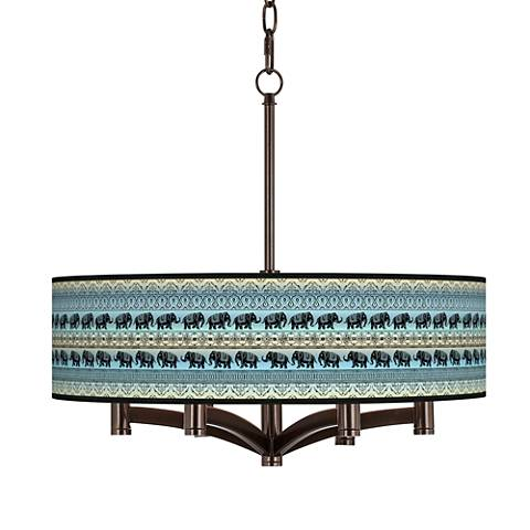 Elephant March Ava 6-Light Bronze Pendant Chandelier