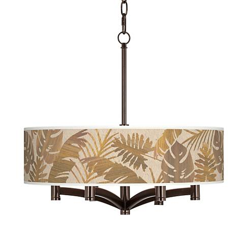 Tropical Woodwork Ava 6-Light Bronze Pendant Chandelier