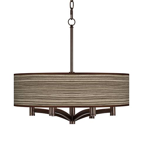 Cedar Zebrawood Ava 6-Light Bronze Pendant Chandelier