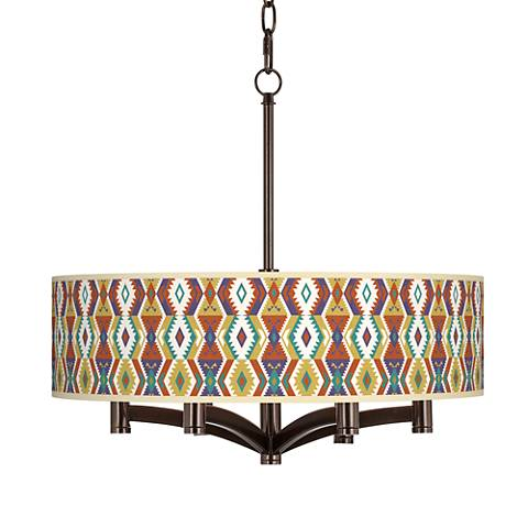 Southwest Bohemian Ava 6-Light Bronze Pendant Chandelier