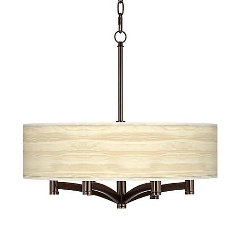 Birch Blonde Ava 6-Light Bronze Pendant Chandelier