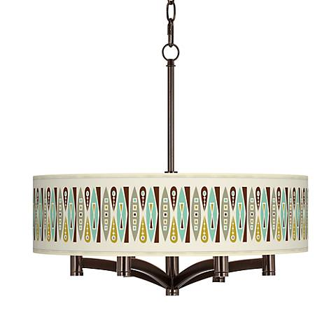 Vernaculis II Ava 6-Light Bronze Pendant Chandelier