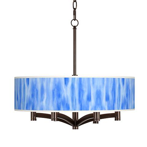 Blue Tide Ava 6-Light Bronze Pendant Chandelier
