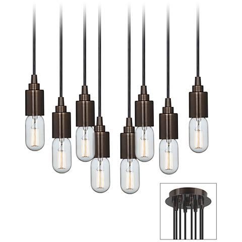Europa T14 Edison Bulb Bronze Multi Light Pendant