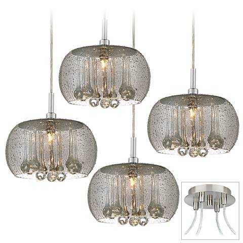 Possini Euro Rainier Brushed Nickel 4-Light Swag Pendant