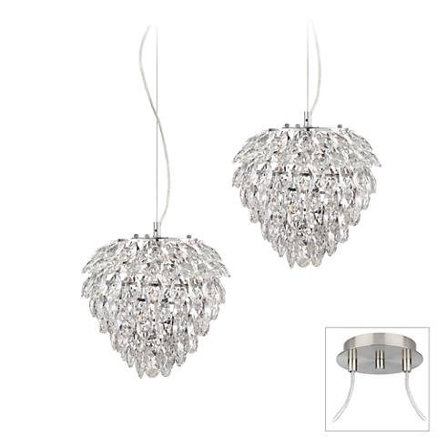 Possini Euro Isabela Brushed Nickel 2-Light Swag Pendant