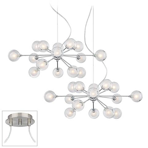 Possini Euro Design Spheres 30-Light Glass Pendant