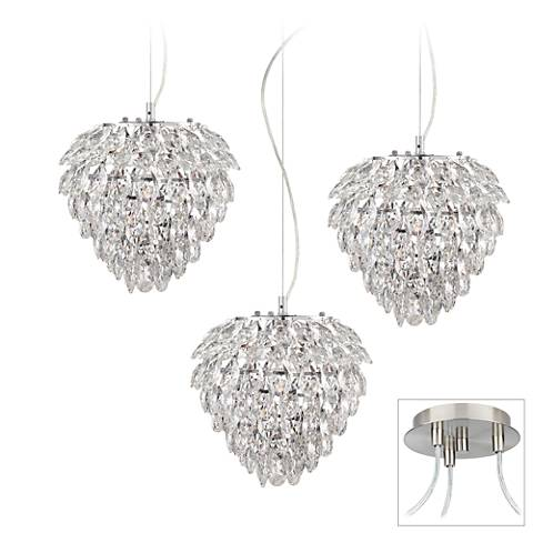 Possini Euro Isabela Brushed Nickel 3-Light Swag Pendant