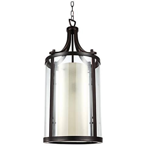"Essex 13 1/4"" Bronze 2-Light Pendant Light"