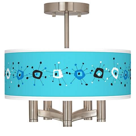Sputnickle Ava 5-Light Nickel Ceiling Light