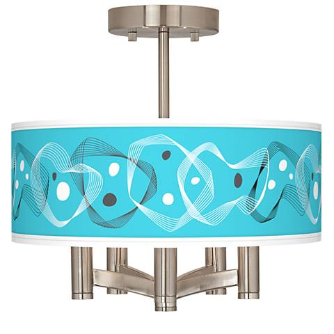 Spirocraft Ava 5-Light Nickel Ceiling Light