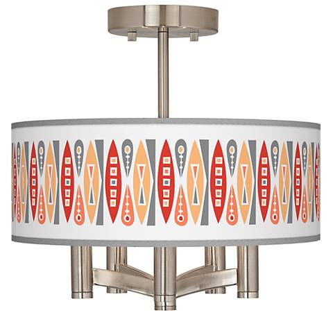 Vernaculis VI Ava 5-Light Nickel Ceiling Light