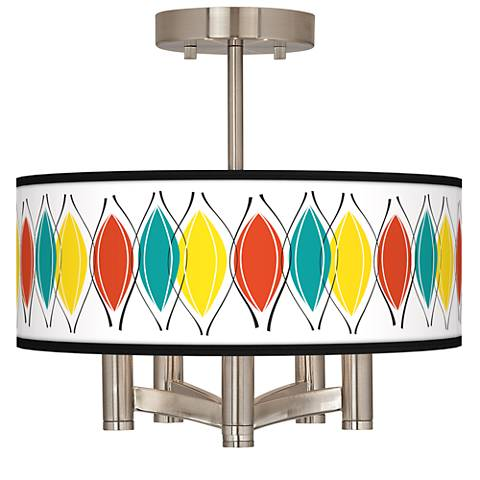 Harmonium Ava 5-Light Nickel Ceiling Light