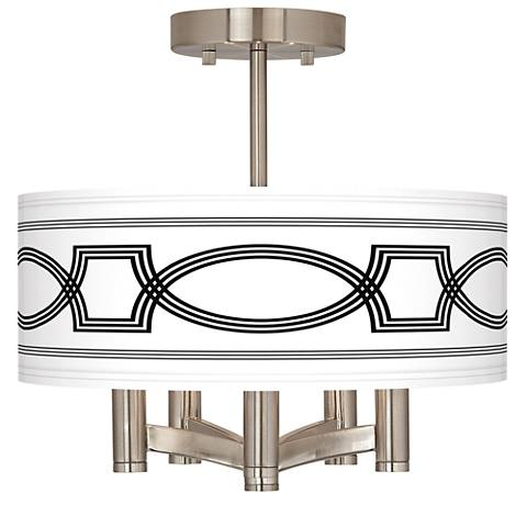Concave Ava 5-Light Nickel Ceiling Light