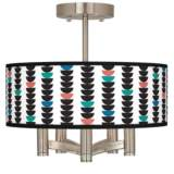Semi-Dots Ava 5-Light Nickel Ceiling Light