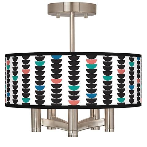 Semi-Dots Ava 5-Light Nickel Ceiling Light