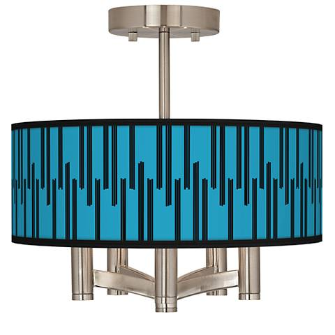 Segments Ava 5-Light Nickel Ceiling Light