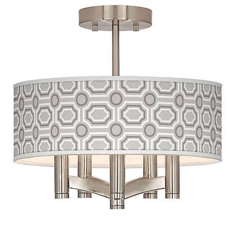 Luxe Tile Ava 5-Light Nickel Ceiling Light