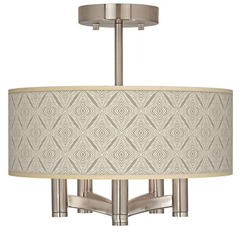 Moroccan Diamonds Ava 5-Light Nickel Ceiling Light