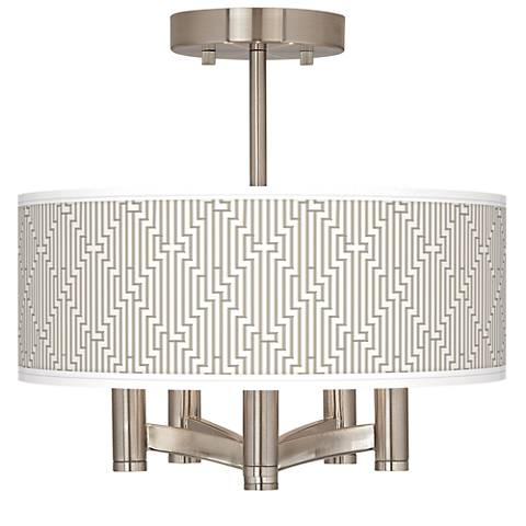 Diamond Maze Ava 5-Light Nickel Ceiling Light