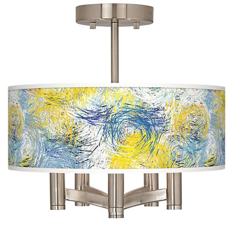 Starry Dawn Ava 5-Light Nickel Ceiling Light