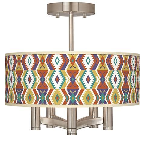 Southwest Bohemian Ava 5-Light Nickel Ceiling Light