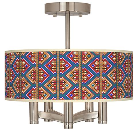 Rich Bohemian Ava 5-Light Nickel Ceiling Light