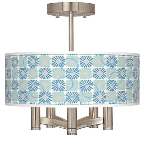 Deco Circles Ava 5-Light Nickel Ceiling Light
