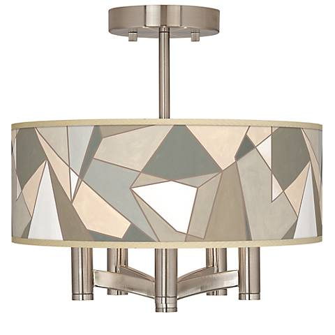 Modern Mosaic I Ava 5-Light Nickel Ceiling Light