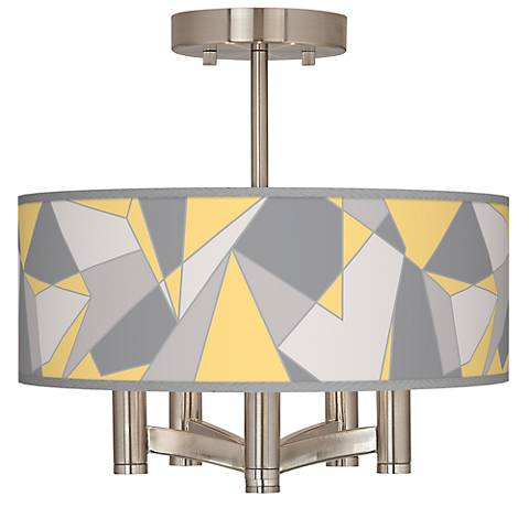 Modern Mosaic II Ava 5-Light Nickel Ceiling Light