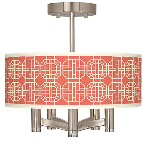 Mandarin Ava 5-Light Nickel Ceiling Light