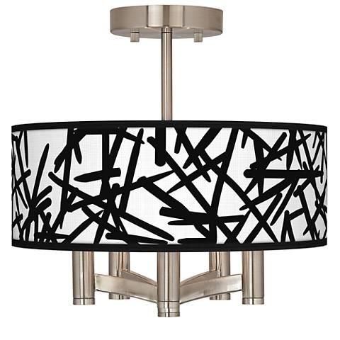 Sketchy Ava 5-Light Nickel Ceiling Light