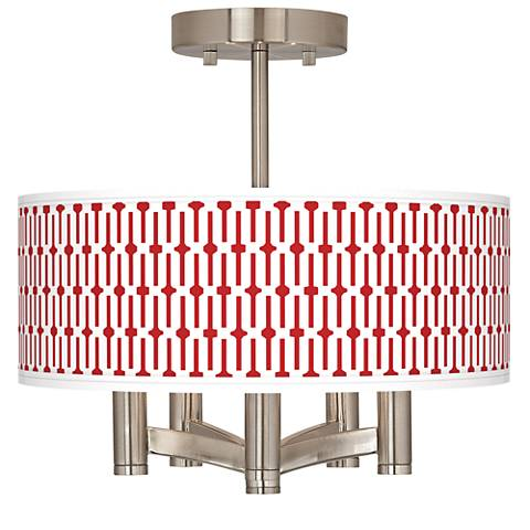 Amaze Ava 5-Light Nickel Ceiling Light