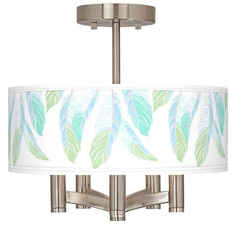 Light as a Feather Ava 5-Light Nickel Ceiling Light