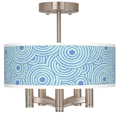 Circle Daze Ava 5-Light Nickel Ceiling Light