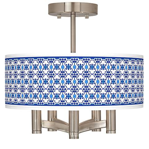 Indigo Path Ava 5-Light Nickel Ceiling Light