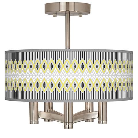 Desert Geometric Ava 5-Light Nickel Ceiling Light